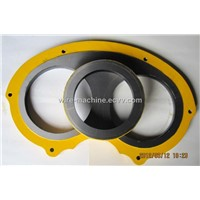 Sany, PM, Mitsubishi, Cifa, Zoomlion concrete pump spare parts wear plate and cutting ring