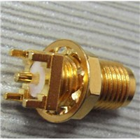 Sma rf connector for PCB