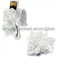 Stock OEM promotion gift leaf usb drive ash key chain usb flash driver