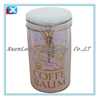 round tin box for tea and coffee /XL-50506