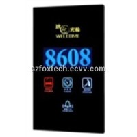 Touch Screen Doorbell System with Room Number/LED Backlight/Metal Frame/D.N.D FDS-008