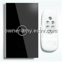 Us style, 1 key remote touch wall switch, crystal tempered glass panel+LED indicator
