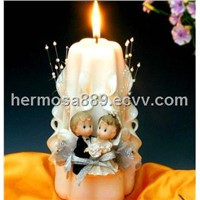Wedding candle with bride shape
