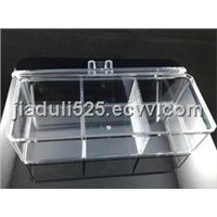 acrylic long storage box with the cover