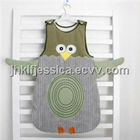baby sleeping bag in owl designs
