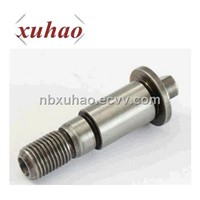 high density tungsten machined threaded shaft