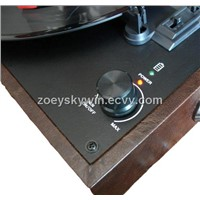 Hot classic leather  turntable record player