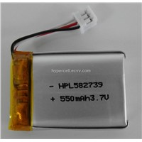 lithium polymer 3.7V battery for bluetooth GPS