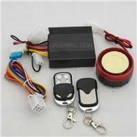 motorcycle alarm system with remote engine start function