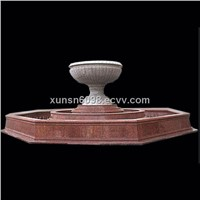 outdoor decoration red granite bowls fountain