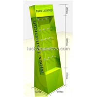 pop cardboard display stand with plastic hooks