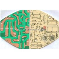 singled sided pcb 1layer pcb  CEM-1 PCB green mask black silkcreen use for voice box