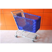 supermarket equipment plastic shopping cart trolley (YRD-S125L)