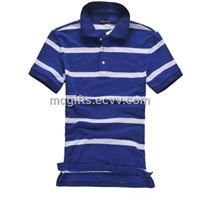 Fashion Striped Men Polo T Shirt / Mens Polo Collar Striped T Shirt