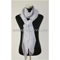 spring scarf white color