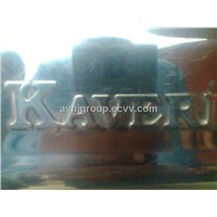 KAVERI APPLIANCES LOGO EMBOSSED ON STAINLESS STEEL SHEET