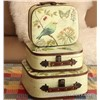 2013 New Birds Wood Suitcase Decorative Wood Storage Vintage Suitcase Gift Box