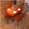 Classic Wooden Dining Round Fold Table Set  T253