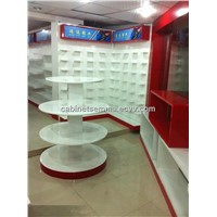 4 Tiers Wooden Display Stand Cosmetic MDF Table Display
