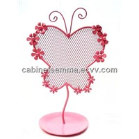 Butterfly Metal Earring Desk Table Top Jewelry Organizer Holder Earrings Stand Display