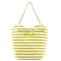 Canvas Beach Bag(KM-BHB0078), Women Handbag, Promotion Bags, Fabric Shopping Bags, Fabric Handbag