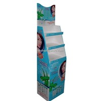 Cosmetics Products Cardboard Floor Display Stand