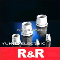 Flat type nylon cable glands PG and Metric thread series