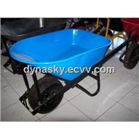 Large Capacity Steel Tray Wheelbarrow-WB7804 with 6.50-8 Pneumatic Tyre