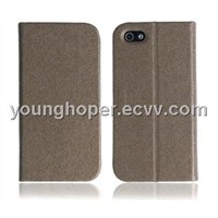 Leather Case with Stand for iPhone5