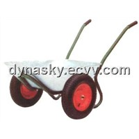 Russian Style Double Wheels Galvanized Wheelbarrow-WB6407