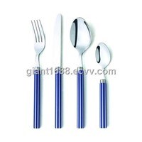 Stainless Steel Cutlery with Plastic Handle