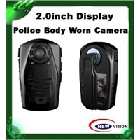 1080P police body worn camera with 2inch tft display