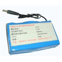 lithium-polymer battery 12V4Ah for autonomous power supply CCTV security cameras