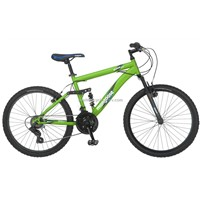 2013 Hot Sale 24-Inch Boy's Matte Green Full-Suspension  Mountain bike