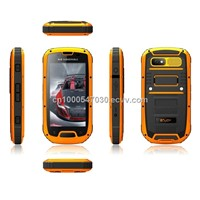 2013 Newest waterproof mobile phone android 4.2 Dual SIM GPS Multiple touch screen