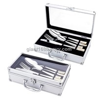 24 Pcs Stainless Steel Cutlery Set with Aluminium Case