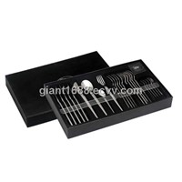 24 Pcs Stainless Steel Cutlery Set with Paper Box