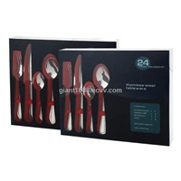 24 Pcs Stainless Steel Cutlery Set with PVC Box