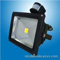 30W PIR Motion Sensor Outdoor Led Flood Lights/led pir floodlight With Warm White, Pure White IP65