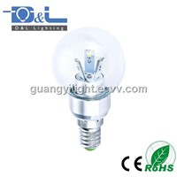 3W SMD LED Candle Bulb E14 Global shape Glass Clear cover