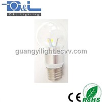 3W SMD LED Candle Bulb E27 Global shape Glass Clear cover