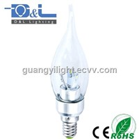 3W SMD LED Candle Lamp E14 Glass Clear cover