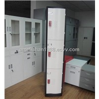 3-tier conves door steel wardrobe