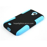 3in1 Function PC+TPU Net Design Cellphone Accessories for Samsung Galaxy S4/i9500
