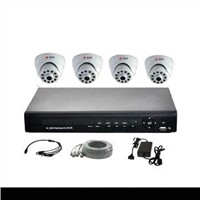 4-channel CCTV Kit with All Necessary Accessories Including HDD