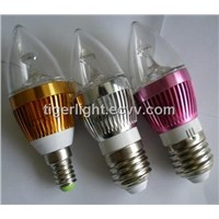 5Pcs/lot E14 3W Led High Brightness Home Office High Power LED Bulb Lamp Candle Light Energy Saving
