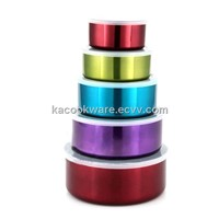 5 PCS STAINLESS STEEL CONTAINERS WITH COLOR