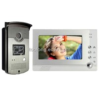 7 Inch Memory Video Doorphone Intercom with ID Card Reader Function