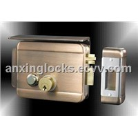 AX051 Red copper brass key locks with connected cylinder