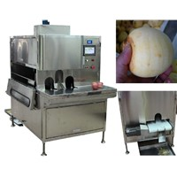 Automatic apple peeling machine ,pear, papaya, sweet melon skin removing machine